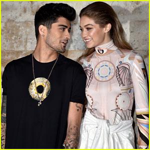 Gigi Hadid & Zayn Malik Support BFF Kendall Jenner at Givenchy Show in Paris