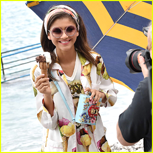 Zendaya Dolls Up For Dolce & Gabbana's New Campaign in Capri
