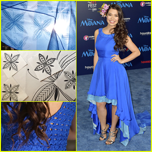 'Moana' Star Auli'i Cravalho's Premiere Dress Pays Homage to Maori Culture - See All The Details!