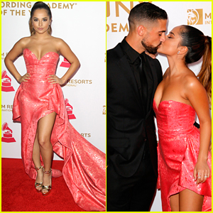 Becky G Stuns Everyone In Gorgeous Pink Gown at Latin GRAMMY Person of the Year!