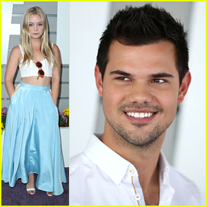 Scream Queens Stars Taylor Lautner & Billie Lourd Step Out For Breeder's Cup Championship