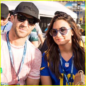 Demi Lovato & Luke Rockhold Fuel Romance Rumors at Rams Game