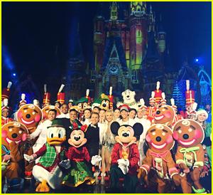 VIDEO: Derek Hough & Sister Julianne Tape Disney World Holiday Specials!