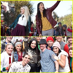 PHOTOS: 'Descendants' Stars Take Over Disney Parks For 'Magical Holiday Celebration'