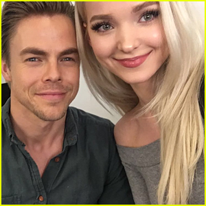Dove Cameron & Derek Hough Say Good Morning From 'Hairspray Live' Set!