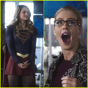 Felicity Smoak Fangirls Over Supergirl Hard in 'Heroes Vs Aliens' Extended Crossover Trailer