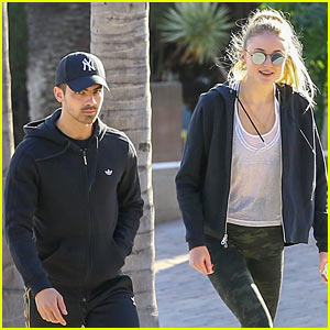 Joe Jonas & Sophie Turner Burn Off Their Post-Thankgiving Calories!