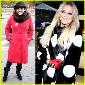 Laurie Hernandez & Kelsea Ballerini Bundle Up for Macy's Parade!