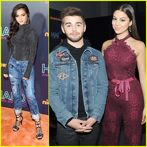 Kira Kosarin & Isabela Moner Hit Up The Nickelodeon Halo Awards 2016