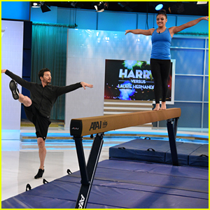 Laurie Hernandez Teaches Harry Connick Jr The Ways of the Balance Beam