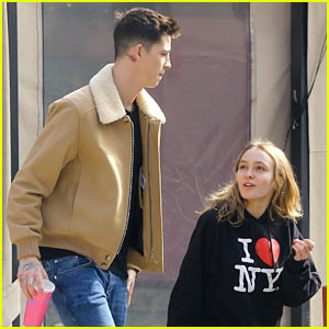 Lily-Rose Depp & Boyfriend Ash Stymest Stay Close During Their Day Date!