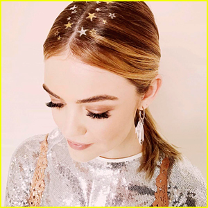 VIDEO: Lucy Hale Tries Glitter Freckles & Hair Tattoos For The Holidays!