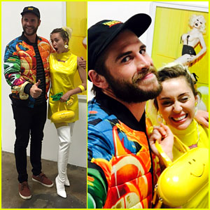 Miley Cyrus Checks Out Her Pal's Gallery Opening with Liam Hemsworth!