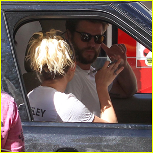 Miley Cyrus & Liam Hemsworth Had to Vote From Their Car!