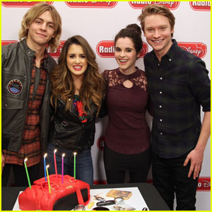 Laura Marano Gets Surprise Birthday Visit From Ross Lynch, Calum Worthy, & Sister Vanessa!