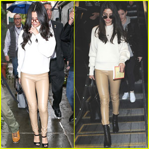 Selena Gomez Wears Same Chic Leather Pants Look One Year Later