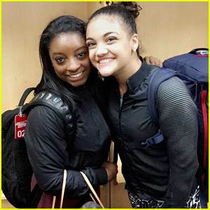Laurie Hernandez Shares Sweet Moment with Simone Biles While Wrapping Up Run on Kellogg's Tour