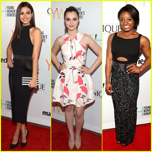 Victoria Justice Has a Mini 'Rocky Horror' Reunion at Young Women's Honors Event!