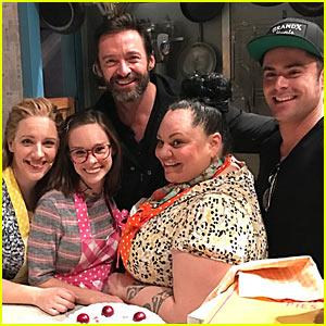 Zac Efron & Close Pal Hugh Jackman Head to Broadway to See 'Waitress'!