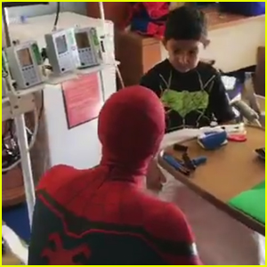 VIDEO: Tom Holland & Zendaya Surprise Sick Children at a NYC Hospital