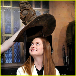 Bonnie Wright Wears Harry Potter's Sorting Hat!