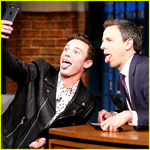 VIDEO: Cameron Dallas Easily Wins Selfie Competition with Seth Meyers!