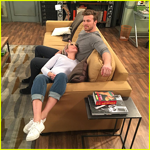 Chelsea Kane Shows Off Fake Baby Bump on 'Baby Daddy' Set