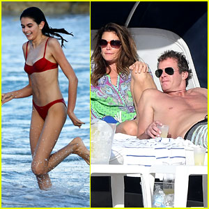 Model Kaia Gerber Spends Christmas Day on the Beach with Family!