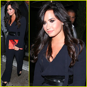 Demi Lovato Steps Out After Receiving First Grammy Nomination