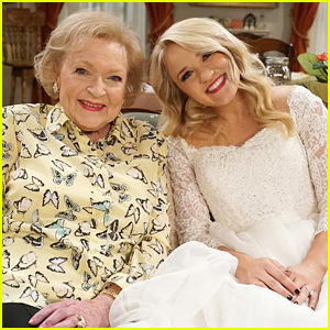 'Young & Hungry's Emily Osment Shares Pic With Betty White in Wedding Dress!