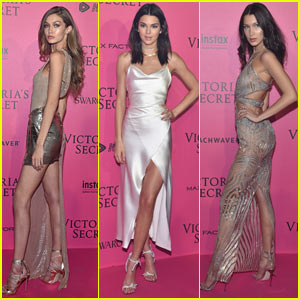 Kendall Jenner, Gigi, & Bella Hadid Shine at the Victoria's Secret After-Party!