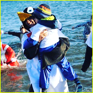 Little Mix's Jade Thirwall Dresses Like a Penguin for Boxing Day Dip 2016!