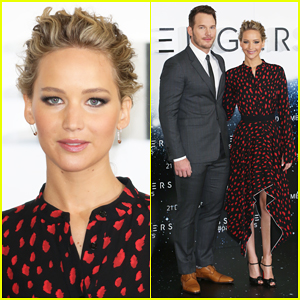 Jennifer Lawrence Keeps Getting Cut Out Of Chris Pratt's 'Passengers' Press Tour Selfies!