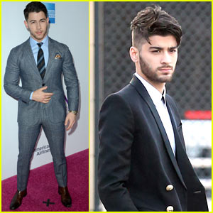 Nick Jonas & Zayn Malik Look Handsome at the Billboard Women in Music Event