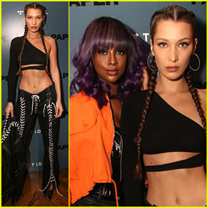 Justine Skye Performs at Bella Hadid's 'Paper' Mag Cover Launch Party
