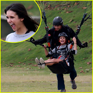 Nina Dobrev Tries Her Hand at Paragliding & Looks Like She's Having the Best Time!