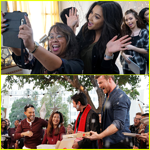 Shay Mitchell, Tahj Mowry & More Freeform Stars Deliver Pop-Up Santa Surprises!