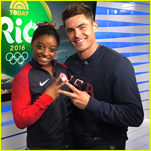 Zac Efron Gifts Simone Biles With a Pennyboard!