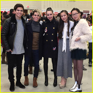 Sofia Carson & Cameron Boyce Visit White House For Share The Joy Campaign
