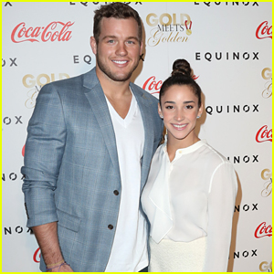 Aly Raisman & Football Boyfriend Colton Underwood Hit Gold Meets Golden Event Together