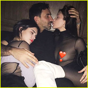 Bella Hadid Takes a Sultry Photo with Riccardo Tisci!