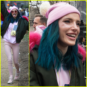 Bella Thorne Rocks Glitter For Women's March in Washington DC