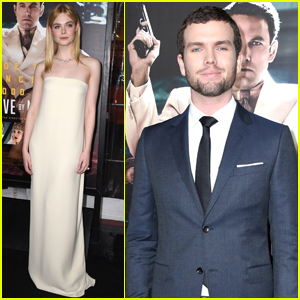 Elle Fanning & Austin Swift Step Out at 'Live by Night' Premiere