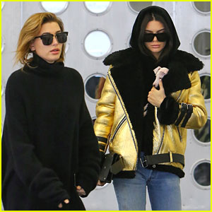 BFF's Hailey Baldwin & Kendall Jenner Bring Along New Puppy For Shopping Trip