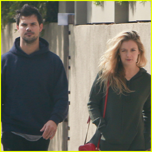 Taylor Lautner Sticks By Billie Lourd's Side After Her Mom's Funeral