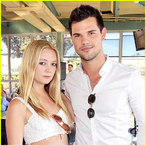 Billie Lourd Receives Support from Taylor Lautner at Mom Carrie Fisher's Burial