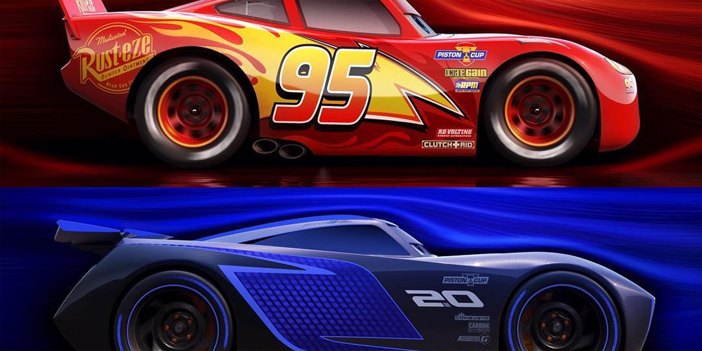 meet two new characters from cars 3 jackson storm cruz ramirez cars movies just. Black Bedroom Furniture Sets. Home Design Ideas