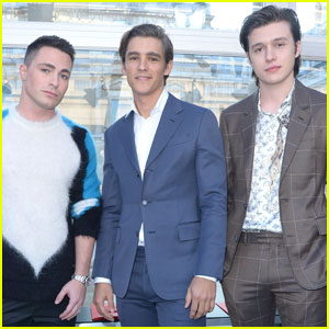Nick Robinson, Brenton Thwaites, & Colton Haynes Make One Hot Louis Vuitton Trio!
