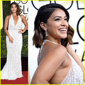 Gina Rodriguez's Dress Is Dazzling at the Golden Globes 2017!