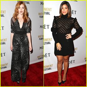 Katherine McNamara Kicks Off Golden Globes Week with Nominee Gina Rodriguez